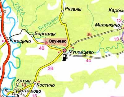 Омская область. Окунево